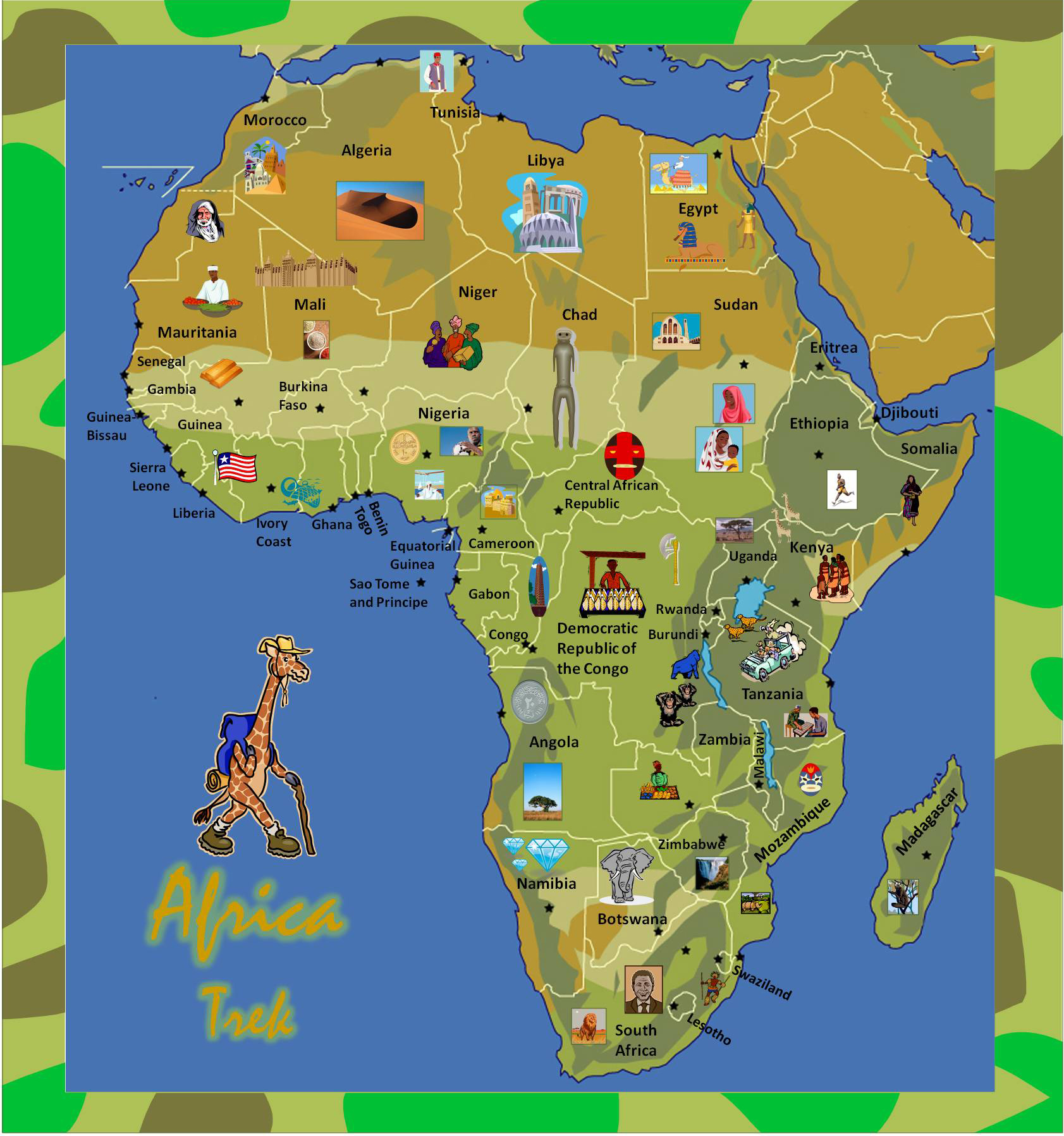 African Countries - Game One - Sheppard Software